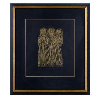 Children of Sir Ralph & Lady Elizabeth Verney Brass Rubbing For Sale