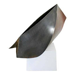 """Contemporary Modern Stainless Steel W Patina """"Acceptance"""" Sculpture Kate Silvio For Sale"""