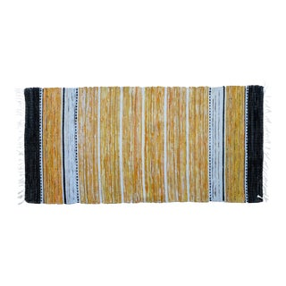 """Handwoven Reversible Vintage Swedish Rug by Scandinavian Made 58"""" x 29"""" For Sale"""
