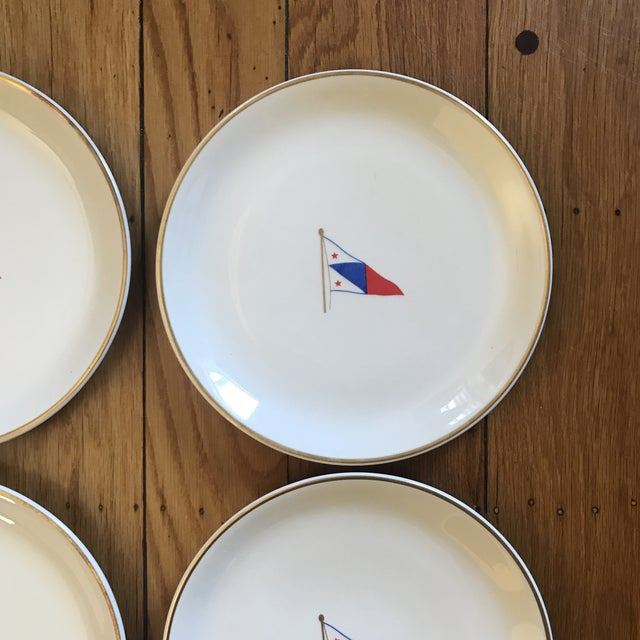Vintage Syracuse China Yacht Club Plates - Set of 6 For Sale - Image 10 of 13