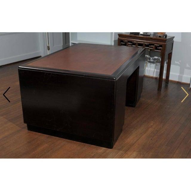 Animal Skin English Art Deco Period Pedestal Desk For Sale - Image 7 of 7