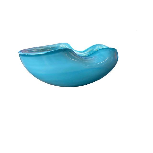 Alfredo Barbini Blue with Gold Flecks Bowl For Sale In Dallas - Image 6 of 9