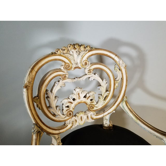 Pair of Late 19th Century Louis XIV Style Signed Maison Jansen Arm Chairs For Sale In Chicago - Image 6 of 12
