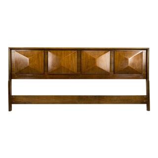 Mid 20th Century United Furniture Diamond King Headboard