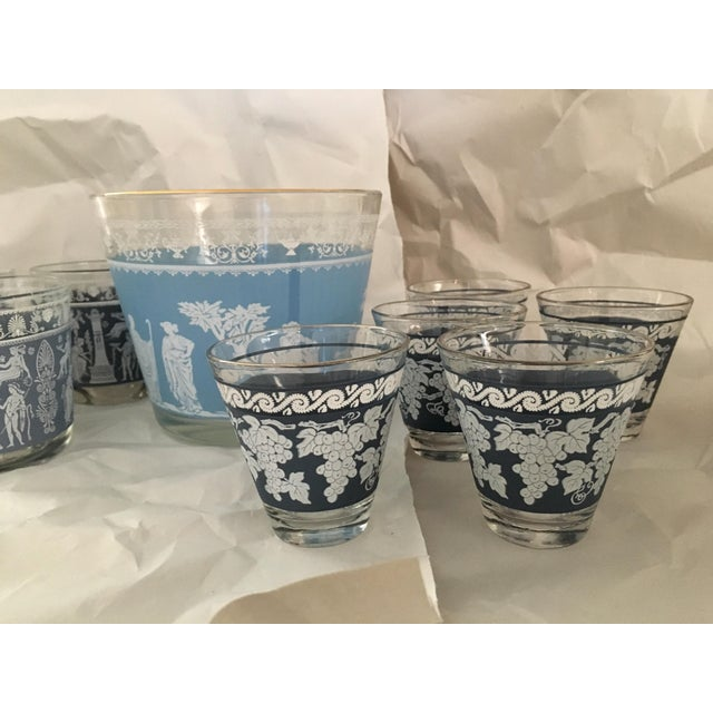 Mid-Century Modern Mid-Century Glasses & Ice Bowl - Bar Cart Set of 9 For Sale - Image 3 of 8