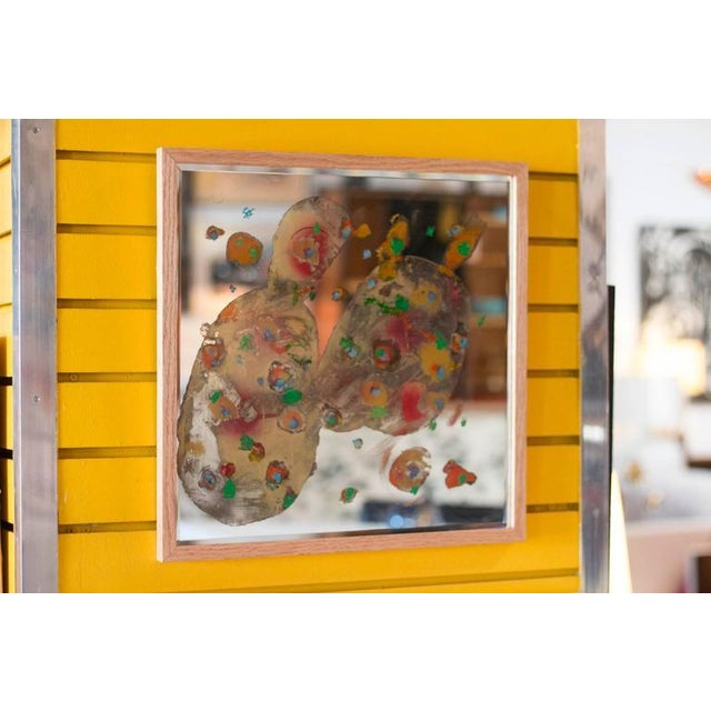 Reverse Paint Mirror by Wesley Johnson For Sale - Image 5 of 6