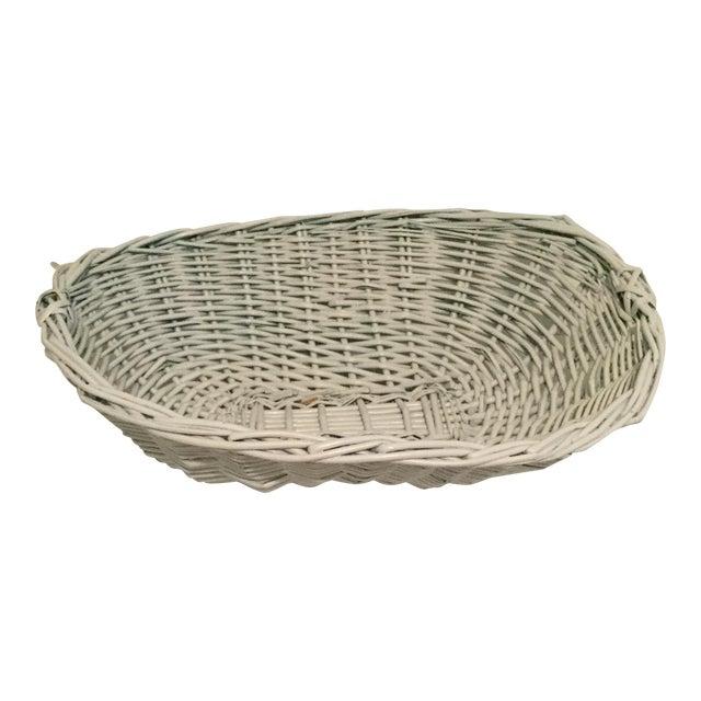 White Wicker Basket For Sale