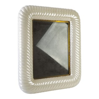 Italian Tommaso Barbi Ceramic Brass Picture Frame For Sale