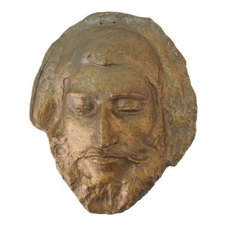 Classical Style Bronzed Plaster Face of Paul Gauguin For Sale