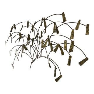 1960s Brutalist Degroot Brass Wall Sculpture