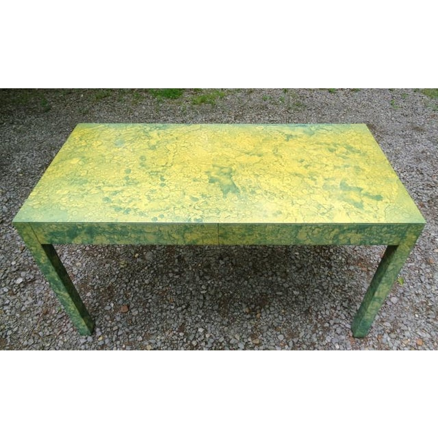 C.1967 Designer Raindrop Finish Vanity Desk Console Table For Sale - Image 12 of 13