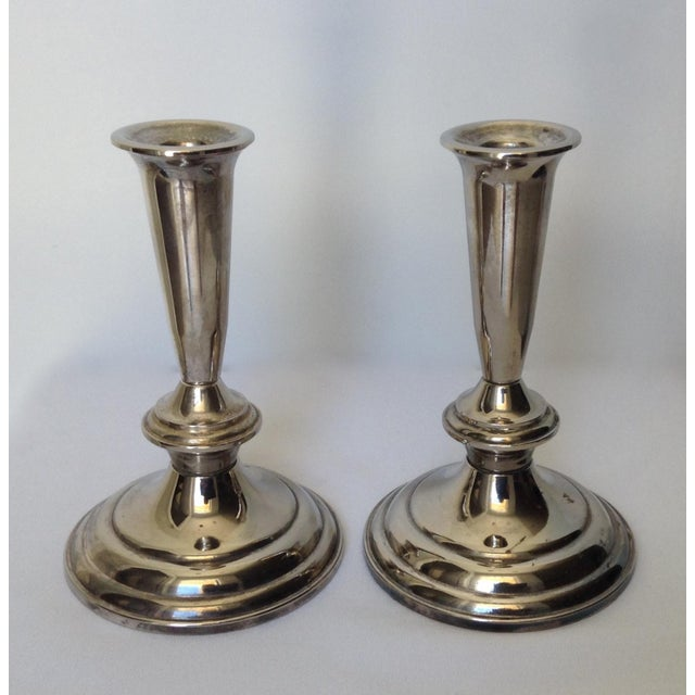 Silver Plate Gorham Candle Holders - a Pair For Sale In West Palm - Image 6 of 11