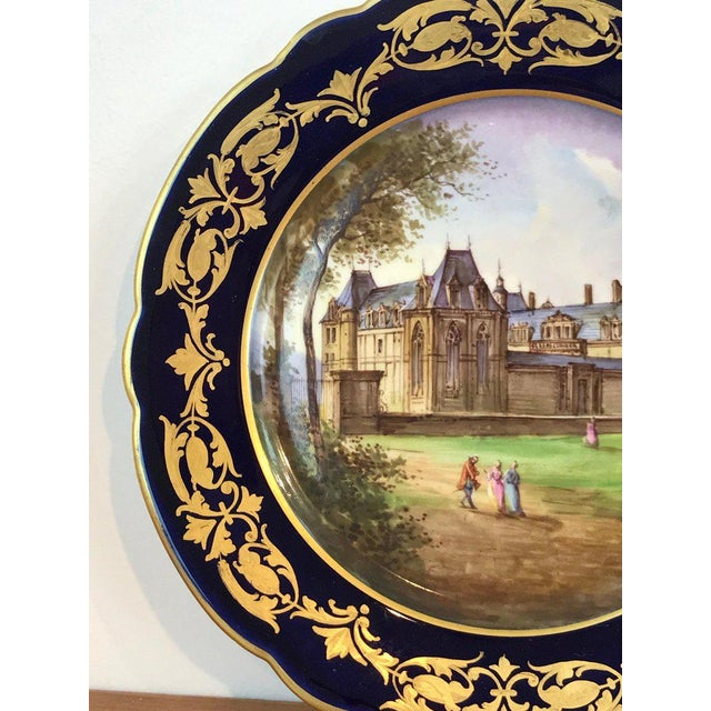 Pair of Sevres Chateau Plates For Sale In West Palm - Image 6 of 13