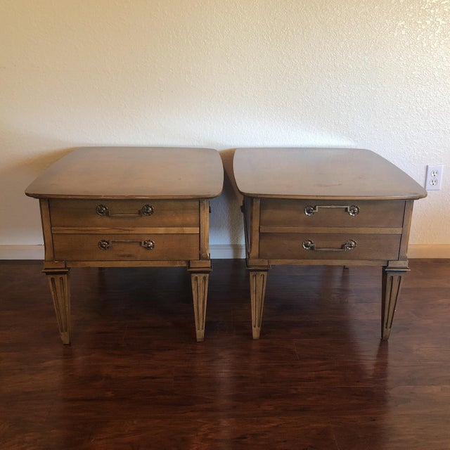 Lane Mid-Century Modern Side Tables - A Pair For Sale - Image 13 of 13