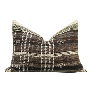 Vintage Hand Woven Indian Fabric Pillow Cover For Sale