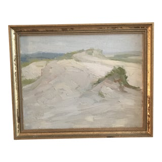 Vintage Impasto Impressionist Beachscape Painting For Sale