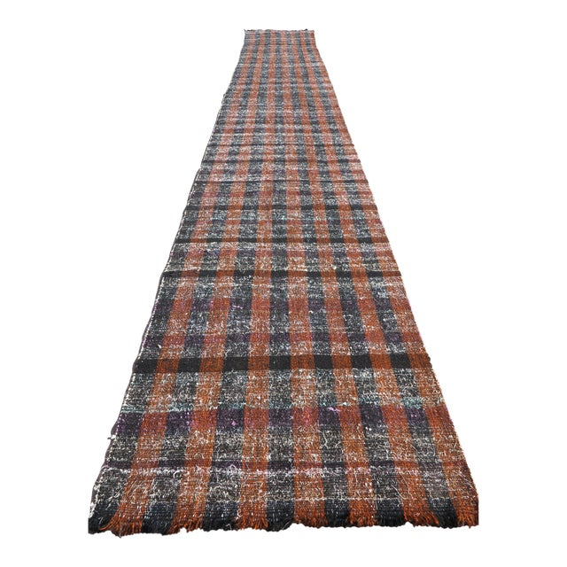 "Vintage Turkish Kilim Runner2'7'x18'6"" For Sale"