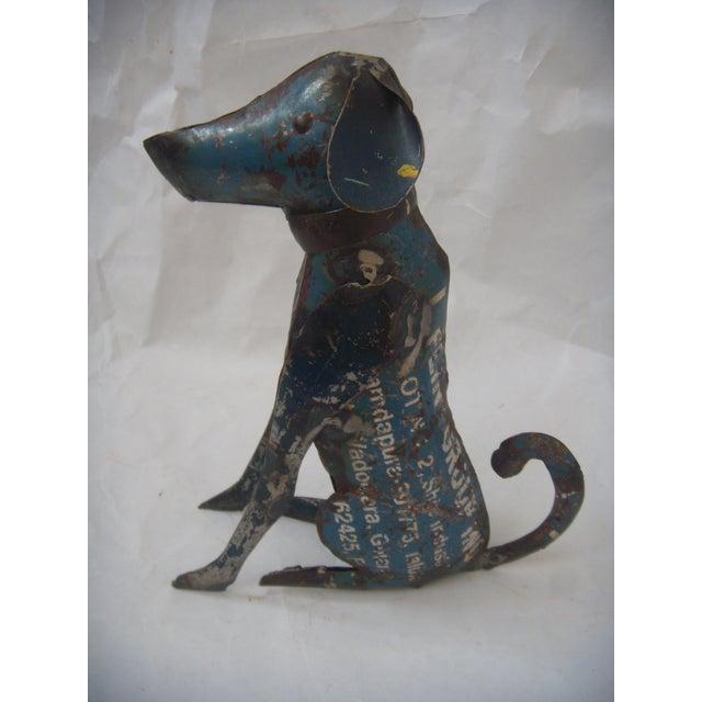 Reclaimed Steel Dog Sculpture - Image 2 of 5