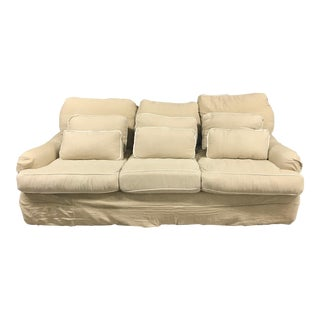 Cozi Couch - Slipcovered Down Feather Sofa For Sale
