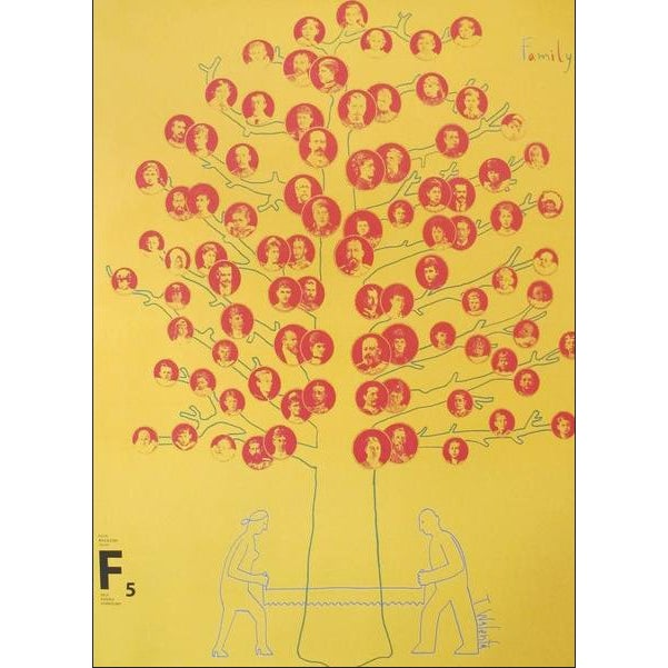 "2007 Contemporary Silkscreen Poster, ""Family Tree"" For Sale"