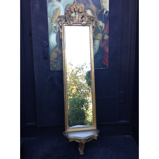 Vintage Gilded Gold Italian Rocco Mirror - Image 9 of 9