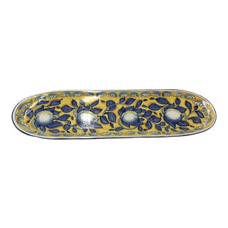Hand Painted Italian Bread Platter With Lemons 32""