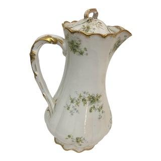 Theodore Haviland Limoges France Porcelain Teapot For Sale
