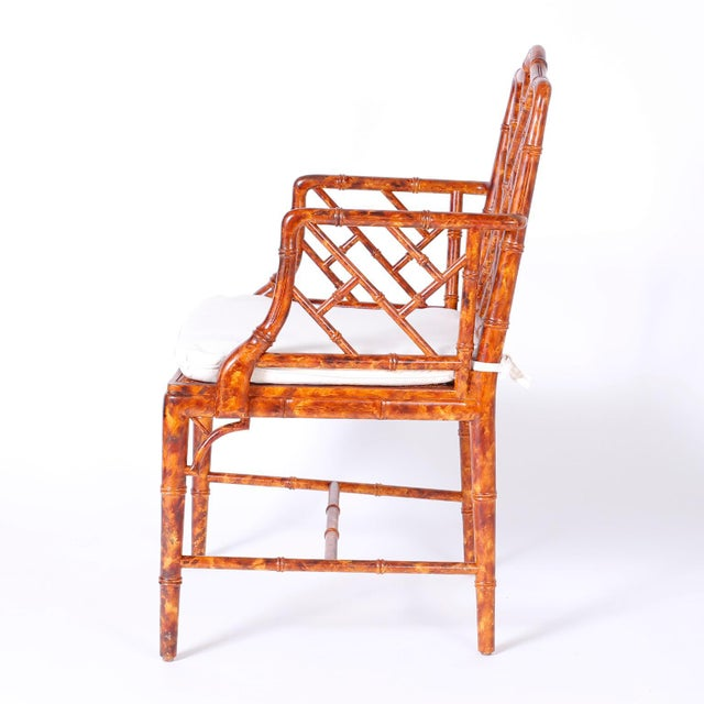Chinese Chippendale Armchairs - Set of 4 For Sale - Image 4 of 11