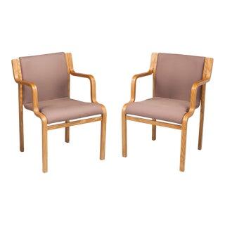 Pair of Stendig Armchairs by Danish Designer Lindau & Lindekrantz