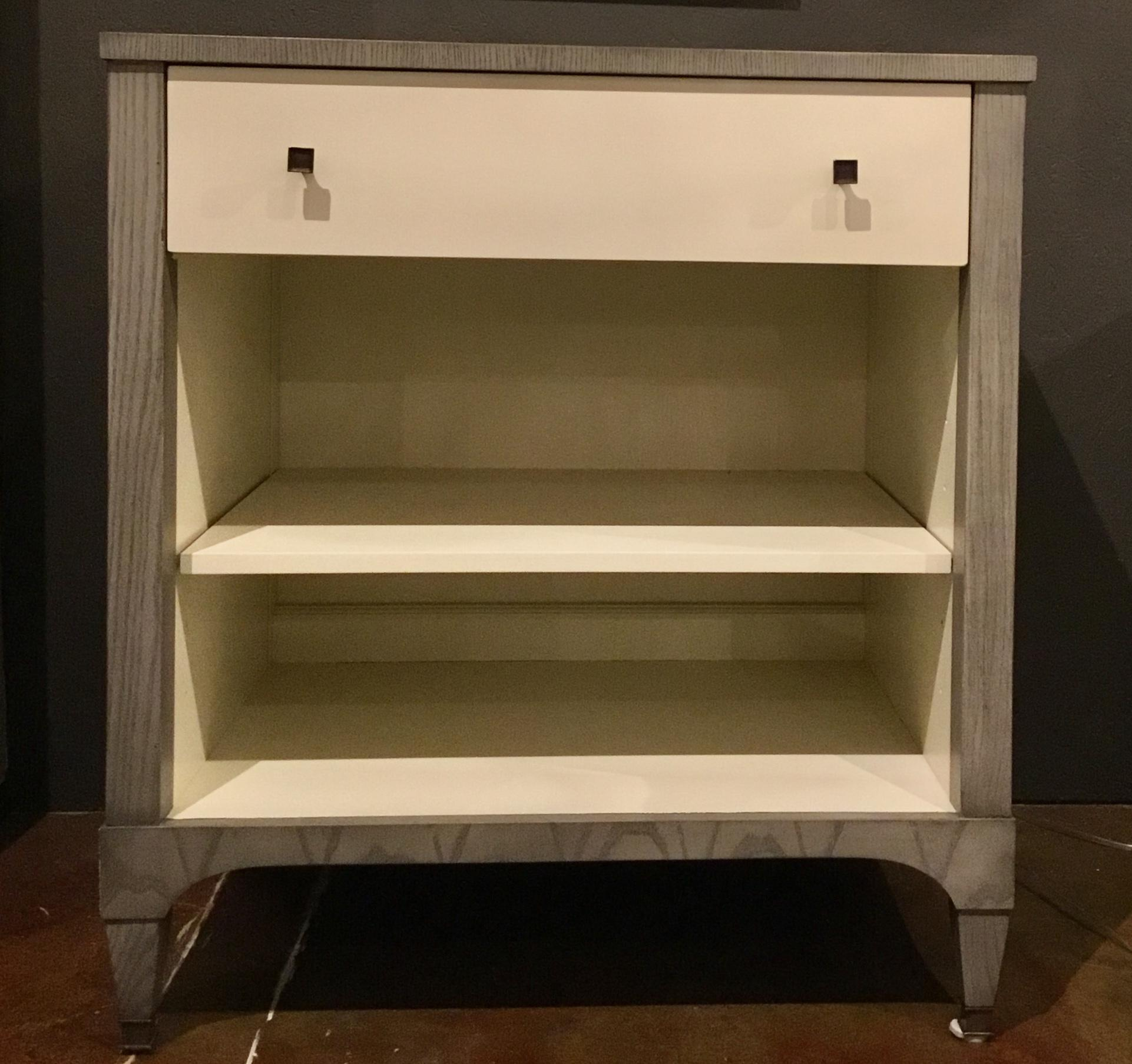 Pair Of French Inspired Hickory Chair Artisan Drawer Chests. Finished In  Ash And Ivory With. Contemporary Contemporary Hickory Furniture Co.