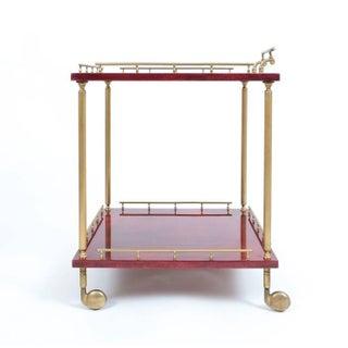 Large Aldo Tura Bar Cart or Side Table, circa 1960