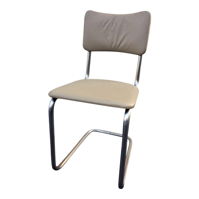 Art Deco Tube Side Chair For Sale