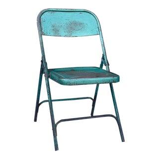 Vintage Iron Folding Chair