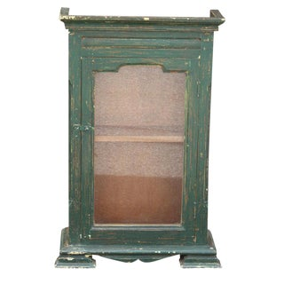 Green Wooden Altar Cabinet