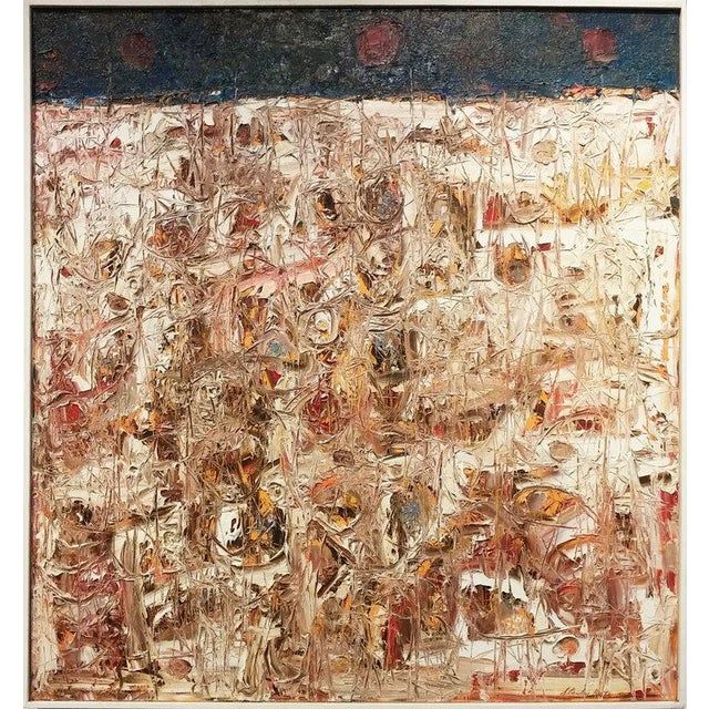 Abstract Stanley Bate, Spring Thaw Painting, Circa 1960 For Sale - Image 3 of 6