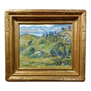 """Donna Schuster """"View of Silverlake,CA"""" Oil Painting For Sale"""