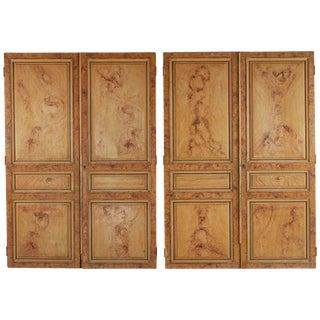 Late 19th Century Faux Painted Wood Panels From France - Set of 4 For Sale