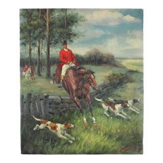 Fox Hunt Oil Painting