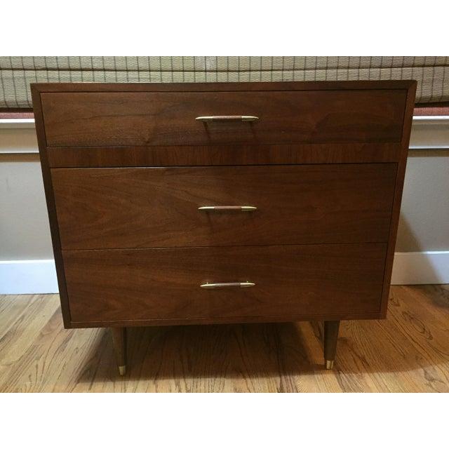 Danish Modern Low Teak Dresser Chest - Image 2 of 8