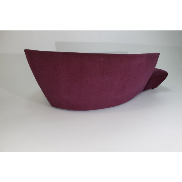 """Preview 1980s Vintage Vladimir Kagan for Preview """"Bilbao Sofa"""" For Sale - Image 4 of 9"""