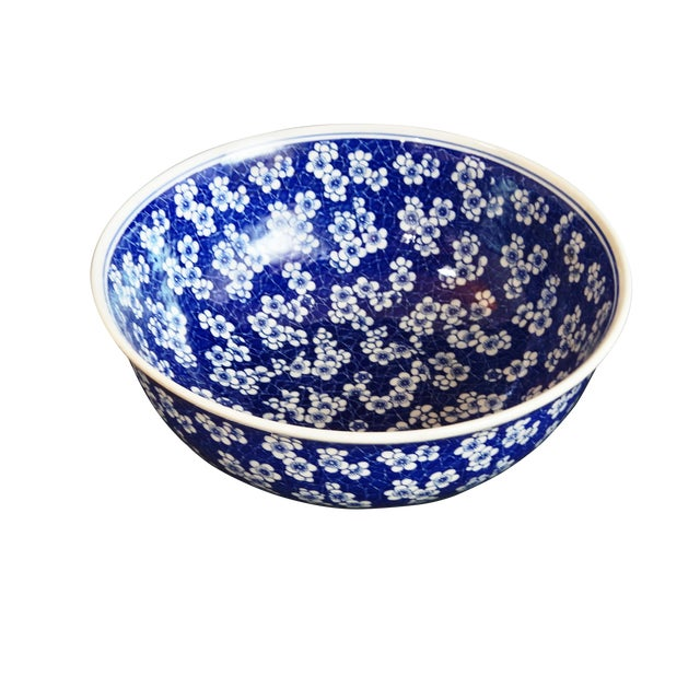 Chinese Lg Centerpiece Plum Blossom Bowl - Image 2 of 8