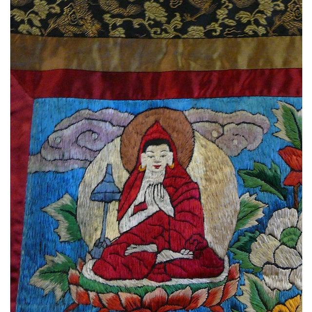 Embroidery Tibetan Tara Buddha Thangka Art - Image 6 of 10