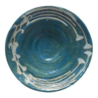 Old Art Nouveau Pottery Plate For Sale