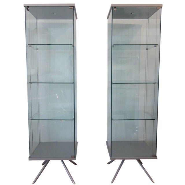 Glass Display Cabinets - A Pair - Image 1 of 11