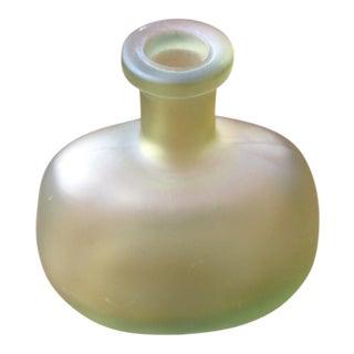 Gold Vintage Glass Vase For Sale