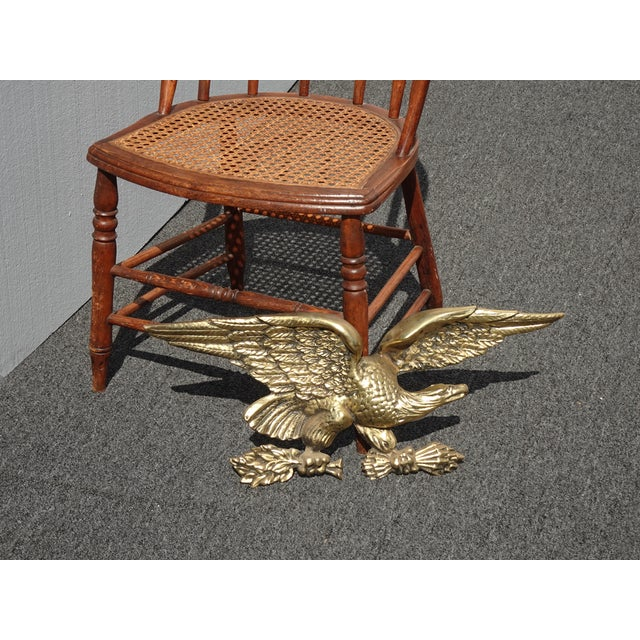 Gorgeous Eagle Plaque in Great Vintage Condition. Solid and Firm. Wear is usual for its age. Please see photos. Overall a...