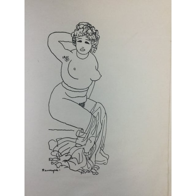 1923 Parisiennes Drawing Print by Remy De Gourmont & André Rouveyre For Sale In Detroit - Image 6 of 12