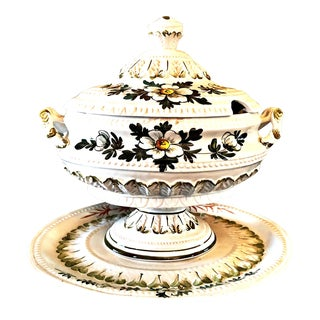 1900s Victorian Tureen With Serving Plate - 2 Pieces For Sale