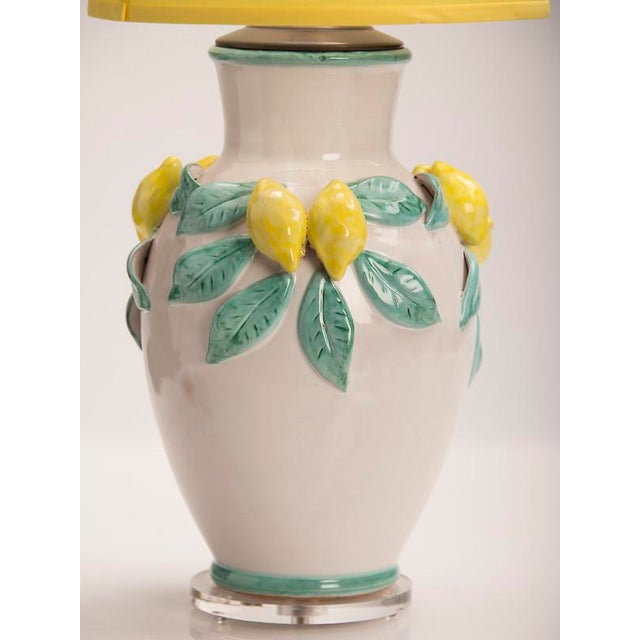 Ceramic Hand Made Glazed Terra Cotta Vase by Solimene, Italy Custom Mounted as a Lamp For Sale - Image 7 of 8
