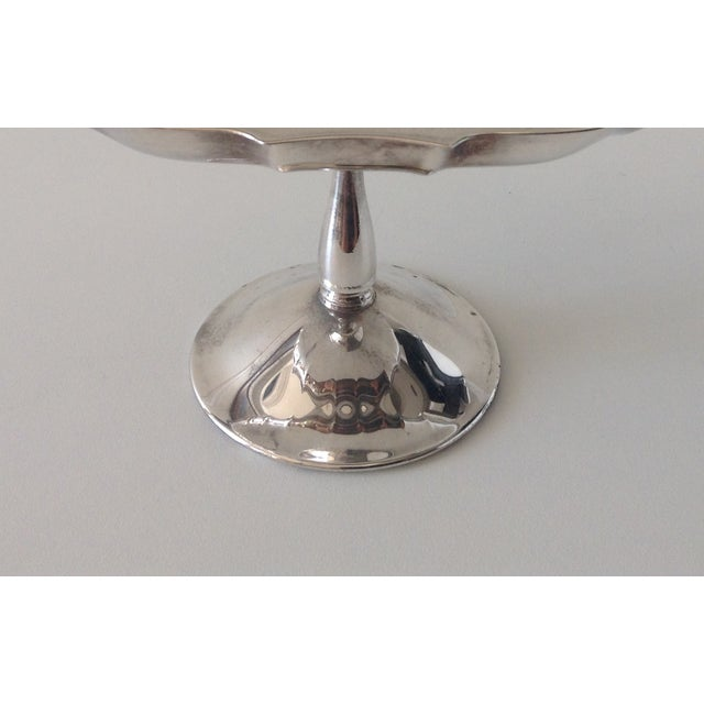 Vintage Silver-Plated Footed Bon-Bon Server Dish For Sale - Image 4 of 4